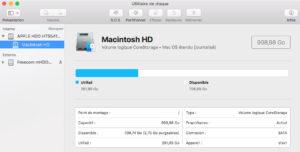 restauration d'un macbook pro